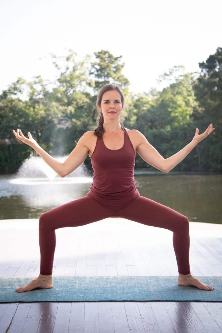 How to do goddess pose (Utkata Konasana)