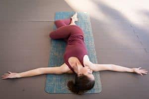 Reclined Twist in Yoga (Supta Matsyendrasana)