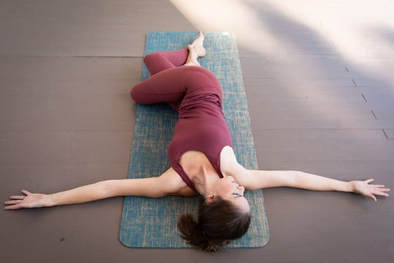 Reclined Twist in Yoga (Supta Matsyendrasana)