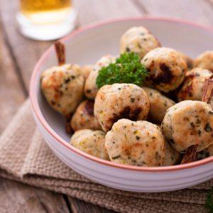 chicken-thigh meatballs