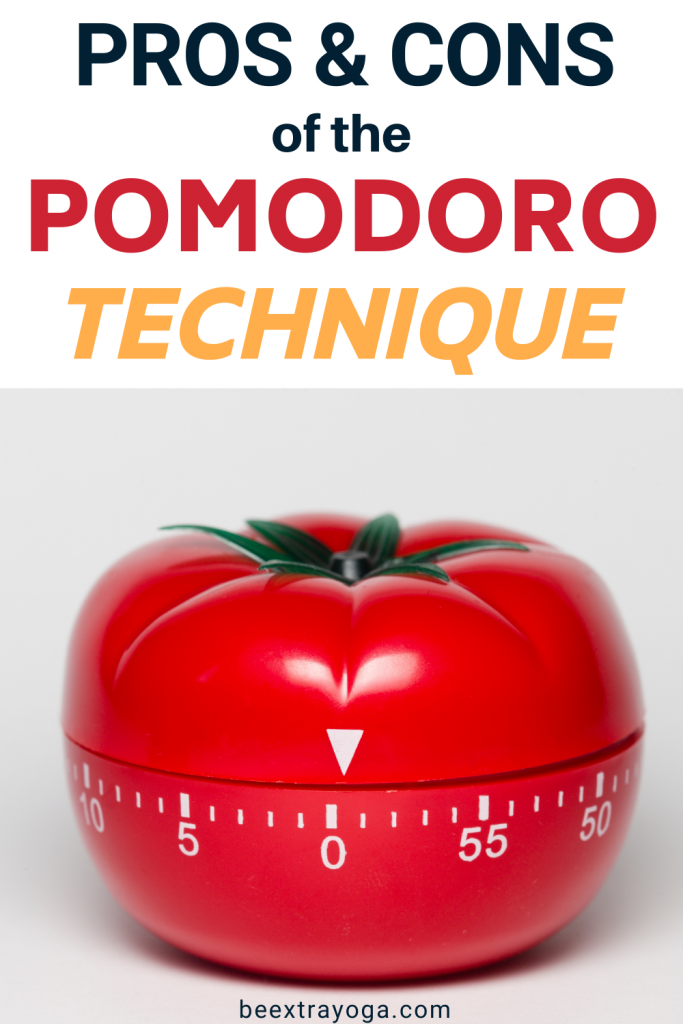 Pros and cons of the Pomodoro technique.