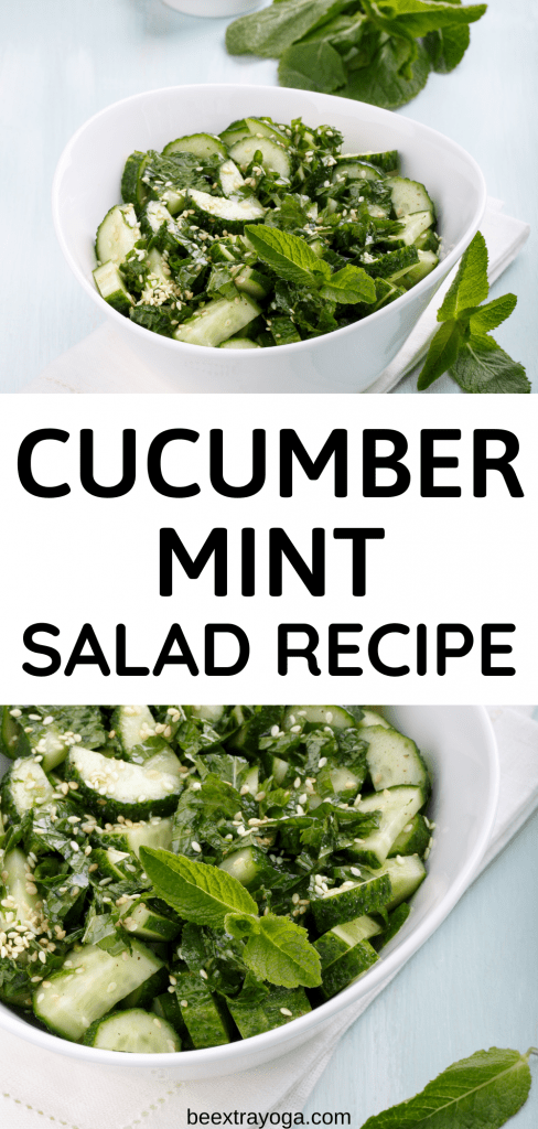 Cucumber mint salad recipe.