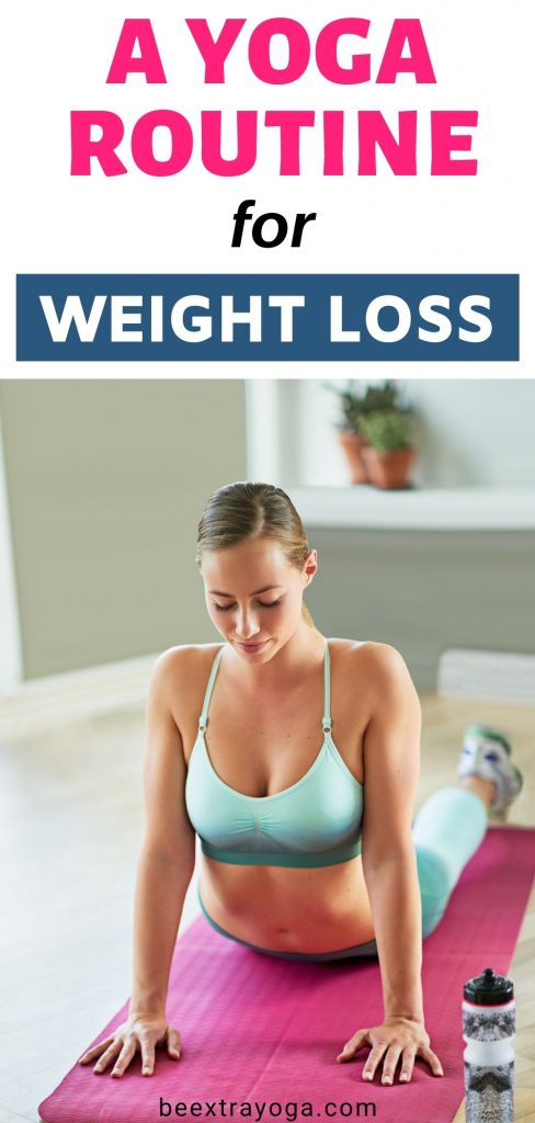 A yoga routine for weight loss.