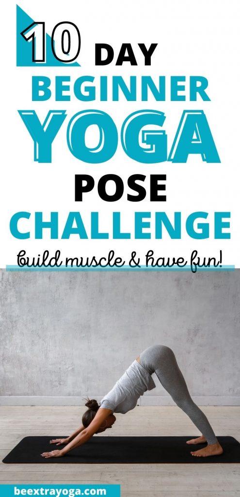 10 day beginner yoga pose challenge.