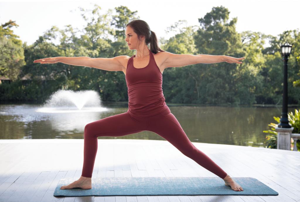 Yoga challenge pose: warrior 2 pose