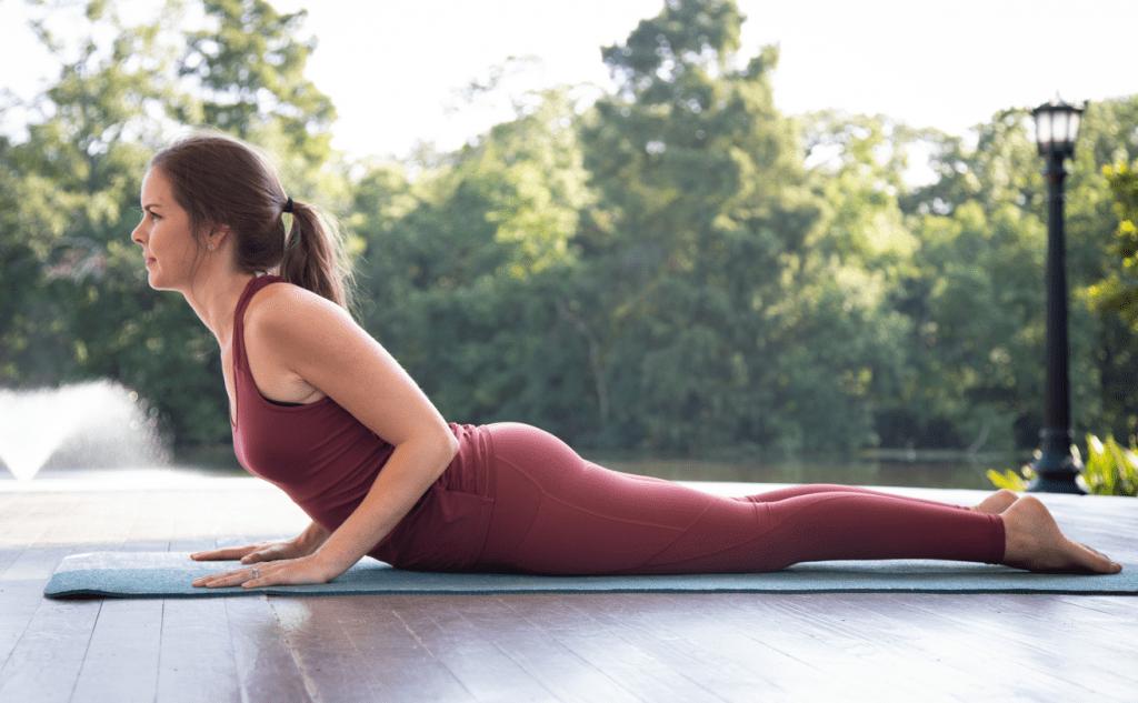 Yoga challenge pose: cobra pose