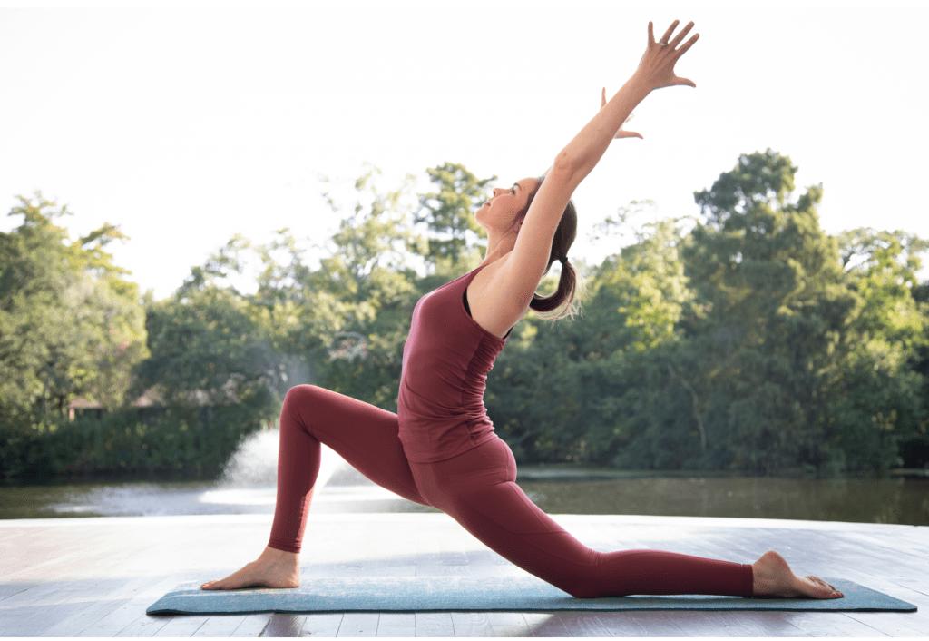 Yoga challenge pose: low lunge pose
