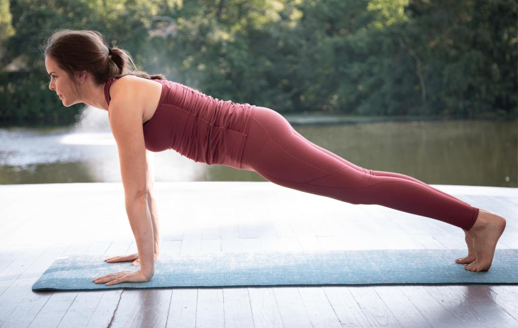 Yoga challenge pose: plank pose